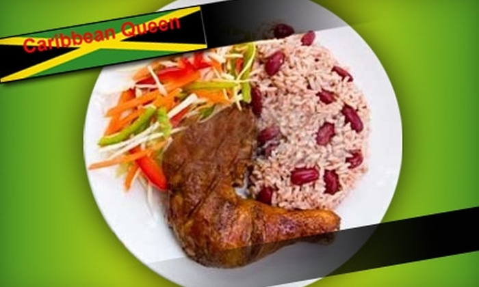 Caribbean Queen - Pleasant Street: $5 for $10 Worth of Jamaican Cuisine and Drinks at Caribbean Queen