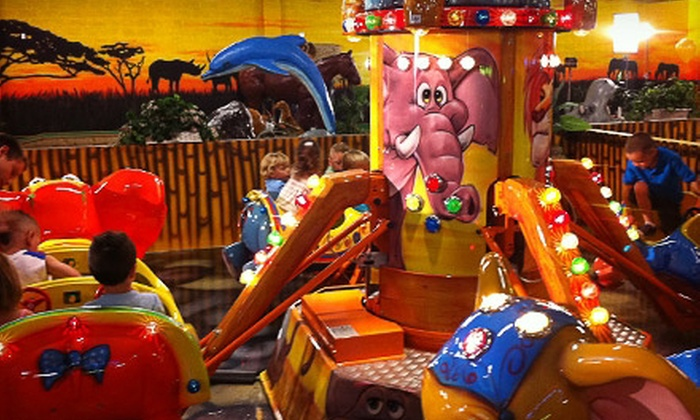 Jambo! Park - Multiple Locations: $16 for an Indoor-Amusement-Park Outing for Two with Popcorn at Jambo! Park ($34.48 Value). Two Locations Available.