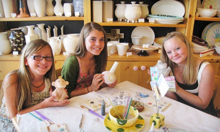 Color Me Mine  - Riverwalk Crossing: $80 for an Eight-Person Pottery-Painting Party at Color Me Mine in Jenks ($160 Value)