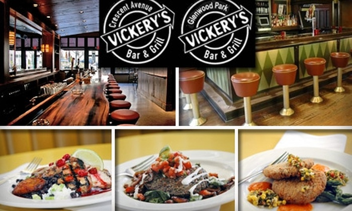 Highland Tap, Steamhouse Lounge, Fontaines, Vickery's (NNNW Corporation) - Multiple Locations: $10 for $20 Worth of Casual Cuisine at Vickery's Bar & Grill