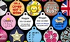 Dog Tag Art: Two Custom Pet-Identification Tags or One Tag and a Lifetime Virtual Leash Membership from Dog Tag Art (Up to 66% Off)
