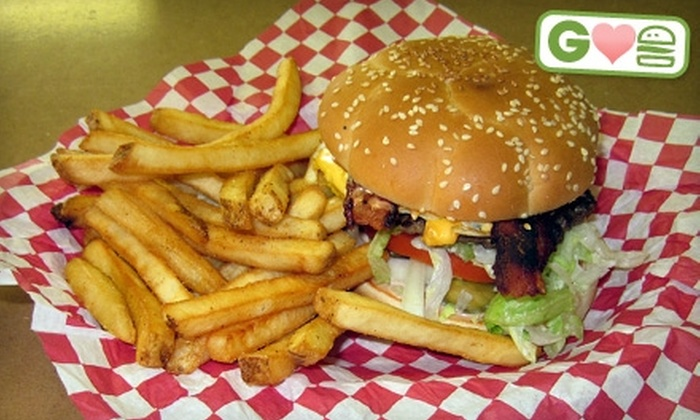 Old Town Burger & Breakfast - Multiple Locations: $4 for the House Burger or a Swiss-and-Mushroom Burger at Old Town Burger & Breakfast ($8.99 Value). Two Locations Available.