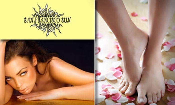 San Francisco Sun - The Haight: $45 for a Moisturizing Mani-Pedi, Tanning, and Waxing from San Francisco Sun ($95 Value)