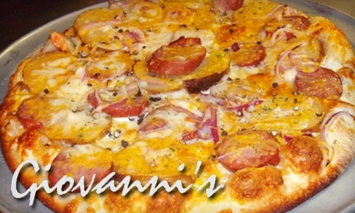 Giovanni's Brick Oven Pizzeria - Glastonbury: $10 for $20 Worth of Gourmet Pizza at Giovanni's Brick Oven Pizzeria in Glastonbury
