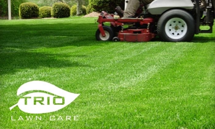 Trio Lawn Care - Atlanta: Lawn-Care Services from Trio Lawn Care. Choose from Two Options.