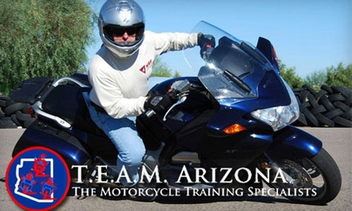 TEAM Arizona - Gilbert: $25 for Intro to Motorcycling Course at TEAM Arizona ($65 Value)