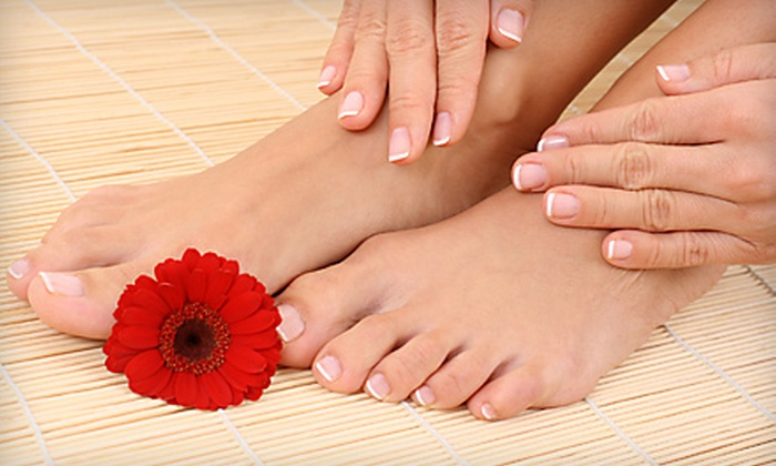 Harmony Spa - Miami: Gel Manicure and Basic Pedicure or Mani-Pedi with Paraffin at Harmony Spa