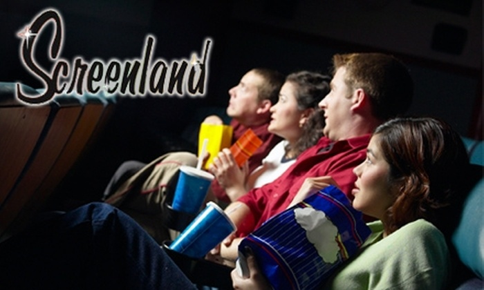 Screenland - Multiple Locations: $16 for Two Movie Tickets, Two Large Popcorns, and Two Large Sodas