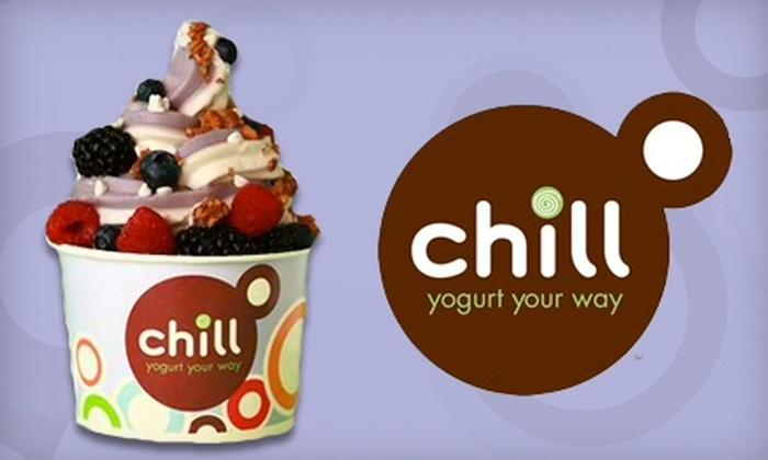 Chill Yogurt Café - Multiple Locations: $5 for $10 Worth of Frozen Yogurt at Chill Yogurt Café