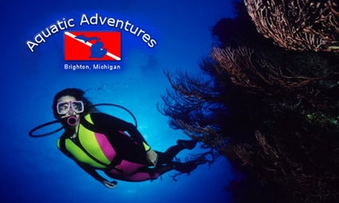 Aquatic Adventures of Michigan - Genoa: $10 for a Discover Scuba Class or $150 for a Beginner Diver Certification Course from Aquatic Adventures of Michigan in Brighton