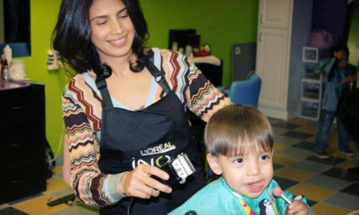 Lolis & Mike's Spa for Kids - Stone Ridge: Kids' Haircut or Ice-Cream Mani-Pedi at Lolis & Mike Kids Spa (Up to 55% Off)