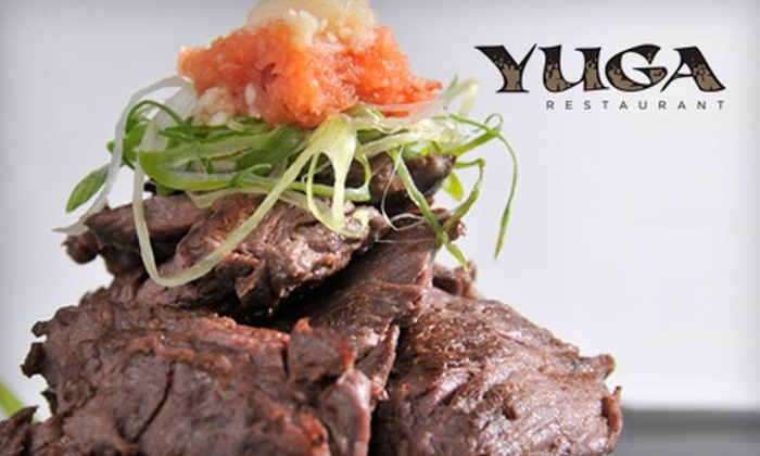 Yuga Restaurant - Coral Gables Section: $15 for $30 Worth of Modern Asian Dinner Fare and Drinks at Yuga Restaurant in Coral Gables