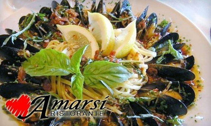 Amarsi Ristorante - Tucson: $25 for $50 Worth of Italian Cuisine and Drinks at Amarsi Ristorante in Oro Valley