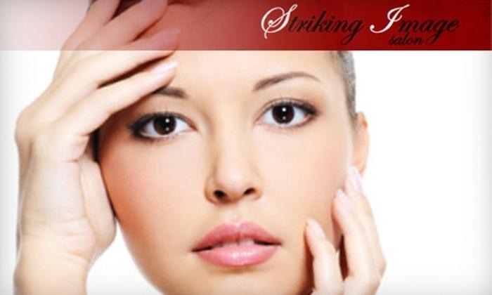 Striking Image Salon - Ogden: $15 for Lip Wax, Eyebrow Wax, and Deep-Conditioning Hair Treatment ($35 Value) at Striking Image Salon