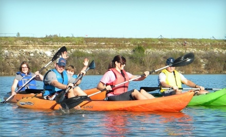 Row Paddle Brushy Creek: 1-Hour Rental of 2 Tandem Kayaks  - Row Paddle Brushy Creek in Cedar Park