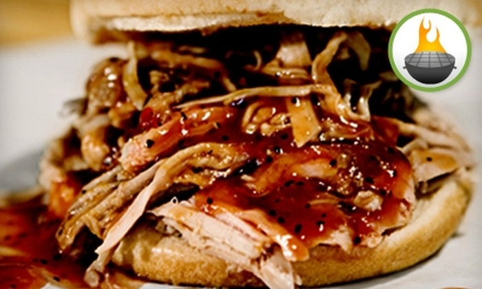 Old Brick Pit Barbeque - Chamblee: $6 for Four Barbecue Pulled Pork Sandwiches and Two Coleslaws at Old Brick Pit Barbeque ($12.60 Value)