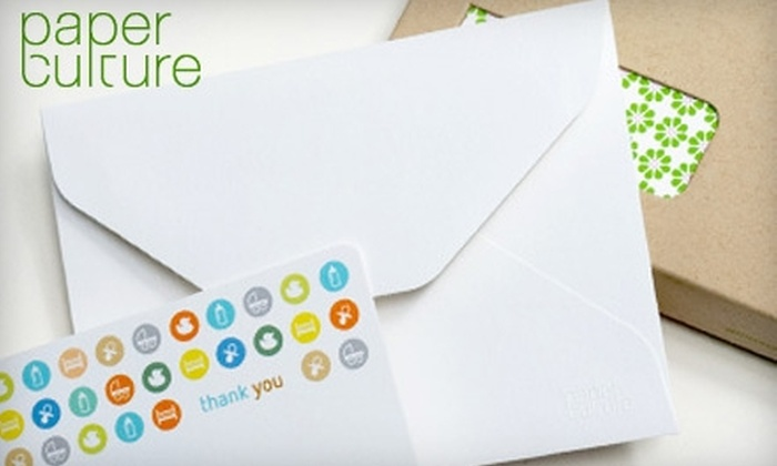 Paper Culture: $20 for $50 Worth of Eco-Friendly Holiday Cards and Stationery from Paper Culture