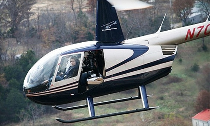 Chopper Charter Branson - Multiple Locations: $139 for Helicopter Flight for Two from Chopper Charter Branson, Plus 15% Off Dinner at Charlie's Steak, Ribs & Ale ($220 Value)