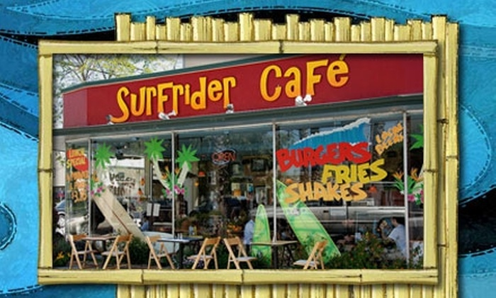 Surfrider Café - Downtown Santa Cruz: $10 for $20 Worth of Laid-Back Eats at Surfrider Café