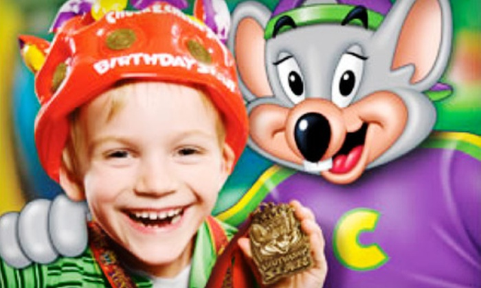 Chuck E. Cheese - Suncrest: $20 for One Large Pizza, Four Large Drinks, and 120 Tokens at Chuck E. Cheese's in Orem ($44.99 Value)