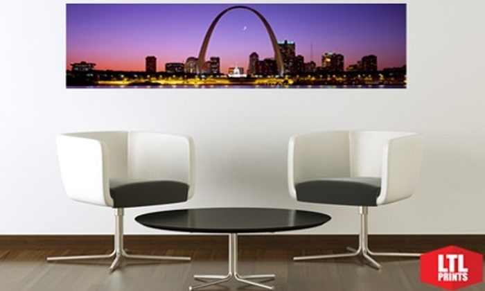 Larger Than Life Prints  - St Louis: $35 for a Panoramic Wall Mural from Larger Than Life Prints