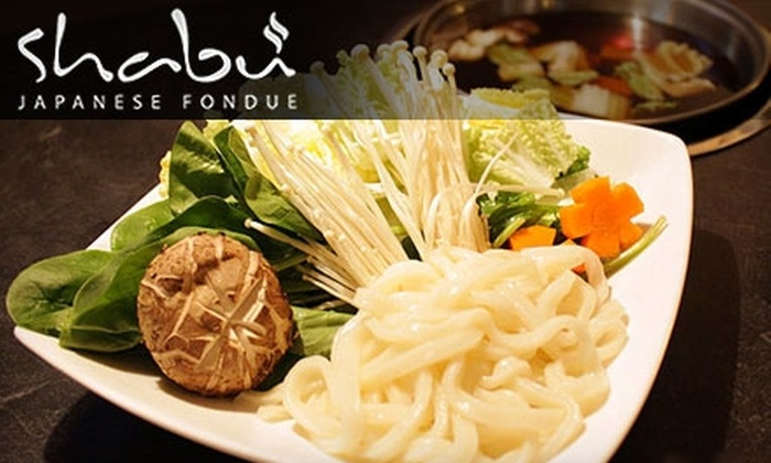 Shabu Japanese Fondue - Midtown: $10 for $20 Worth of Japanese Cuisine at Shabu Japanese Fondue