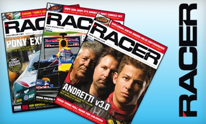 "Racer Magazine - Indianapolis: $24 for One-Year Subscription to ""Racer"" Magazine ($49.95 Value)"