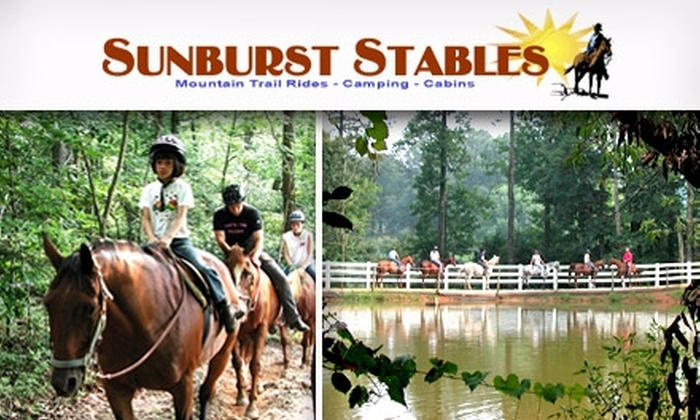 Sunburst Stables - Atlanta: $20 for a Lesson and Trail Ride at Sunburst Stables ($48 Value)