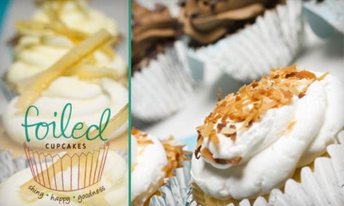 Foiled Cupcakes: $19 for a Dozen Delivered Cupcakes from Foiled Cupcakes