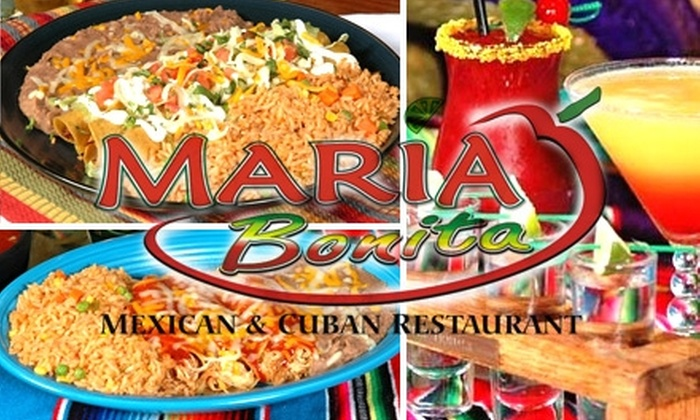 Maria Bonita Mexican & Cuban Restaurant - Union Park: $12 for $30 Worth of Mexican and Cuban Fare and Drinks at Maria Bonita