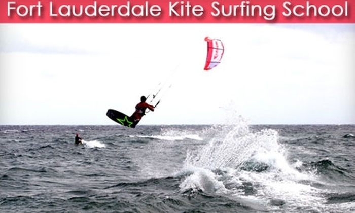 Fort Lauderdale Kite Surfing School - Oakland Park: $90 for a Two-Hour Kite-Surfing Lesson from Fort Lauderdale Kite Surfing School ($185 Value)