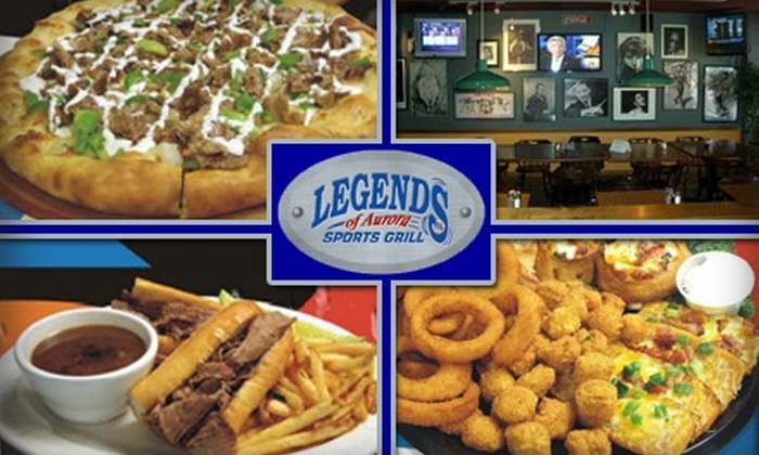 Legends of Aurora - East Ridge - Ptarmigan Park: $10 for $25 Worth of Sporty Pizzas, Calzones, Drinks, and More at Legends of Aurora