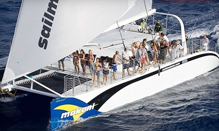 Makani Catamaran - Honolulu: $26 for City Lights Tour ($53 Value) or $32 for Snorkel and Sail Boat Tour ($64 Value) from Makani Catamaran