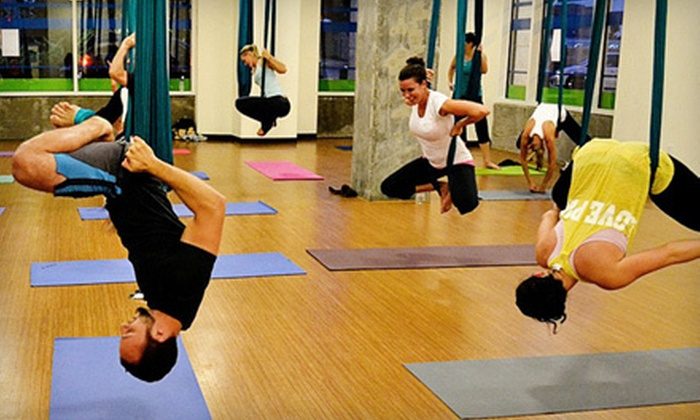 Flex + Fit - Third Ward: $15 for Two-Class Pass for Air Fitness, Hot Yoga, Spin, and More at Flex + Fit ($38 Value)