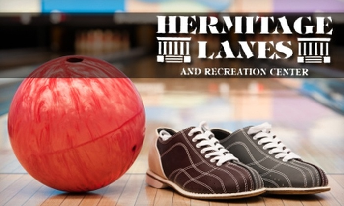Hermitage Lanes - 16: $10 for Three Games Plus Shoes and Eight Arcade-Game Tokens at Hermitage Lanes (Up to $20 Value)