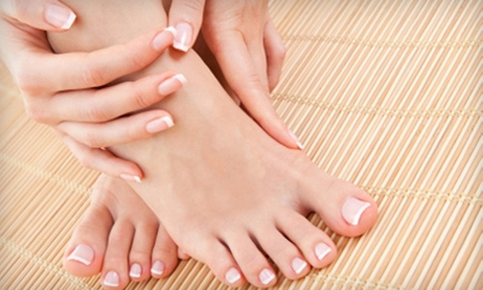 Tips & Toes Spa - Mariposa: $29 for Gel Manicure and Deluxe Pedicure at Tips & Toes Spa ($75 Value) in Glendale