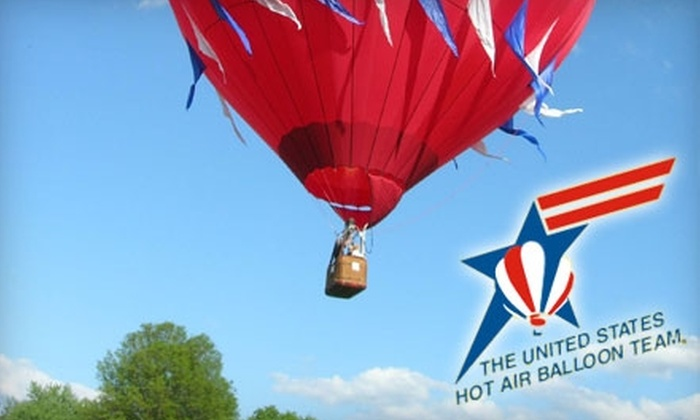 U.S. Hot Air Balloon Team - Multiple Locations: $159 for Hot Air Balloon Ride Over Philadelphia and Countryside With U.S. Hot Air Balloon Team