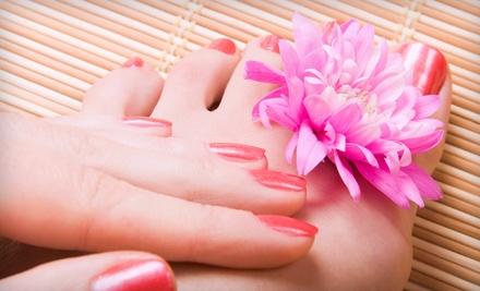 Sorelle Salon: 1 Shellac Manicure and 1 Regular Pedicure - Sorelle Salon in Bartlett