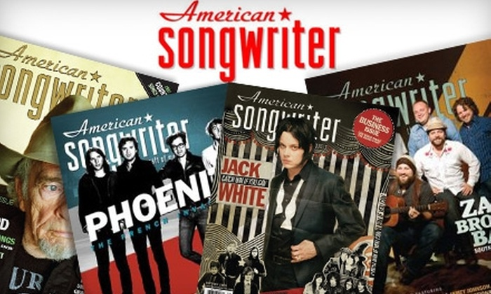 """<i>American Songwriter</i> Magazine - Nashville: $6 for a One-Year Subscription (Six Issues) to """"American Songwriter"""" Magazine ($12 Value)"""
