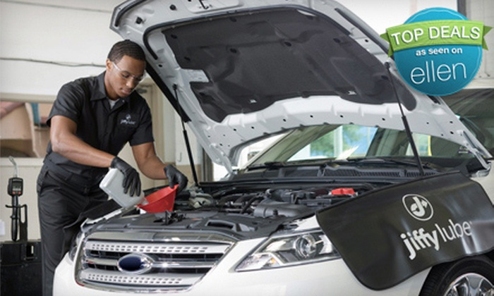 Jiffy Lube - Multiple Locations: Oil Change or Oil Change and Tire Rotation at Jiffy Lube (Up to 51% Off)