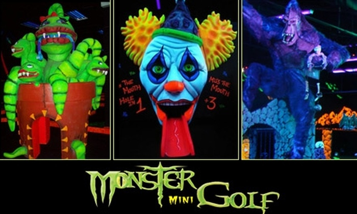 Monster Mini Golf - Multiple Locations: $15 for Four Ghoul-Infused Rounds of Monster Mini Golf