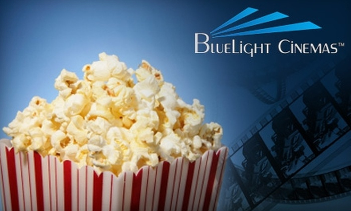 BlueLight Cinemas - Cupertino: $15 for Two Movie Tickets, Two Medium Popcorns, and Two Medium Drinks ($30 Value) at BlueLight Cinemas