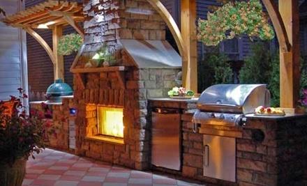 Joe's Backyard: Fireplace or Fire Pit - Joe's Backyard in