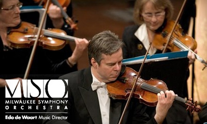 """Milwaukee Symphony Orchestra - Juneau Town: $20 for a Premium Orchestra Ticket to Milwaukee Symphony Orchestra's """"Symphonic Blockbusters!"""" at Uihlein Hall on Friday, November 19 or Saturday, November 20 ($58 Value)"""