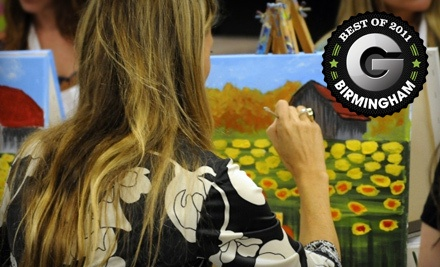 127 S 8th St. in Opelika: 2-Hour BYOB Painting Class (a $25 value) - Uptown Art - Uncorked in Tuscaloosa