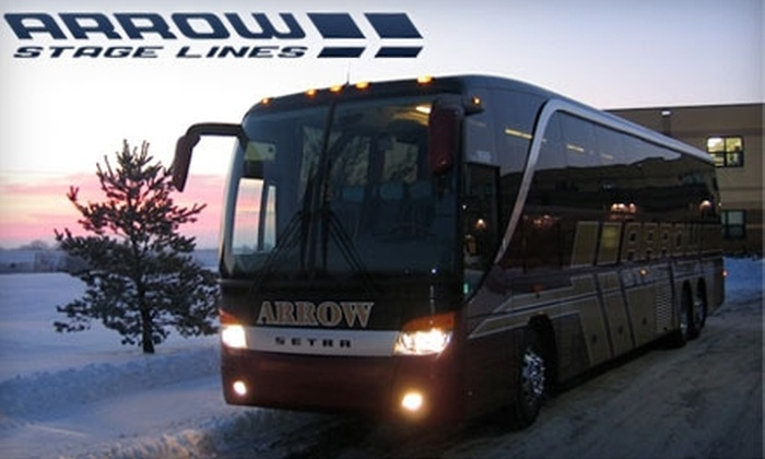 Arrow Stage Lines - Central Omaha: $30 for Two Tickets to Arrow Stage Lines' Holiday Lights Motor Coach Tour on December 18th