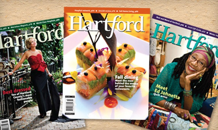 "Hartford Magazine - Hartford: $10 for One-Year Subscription to ""Hartford Magazine"" ($19.95 Value)"