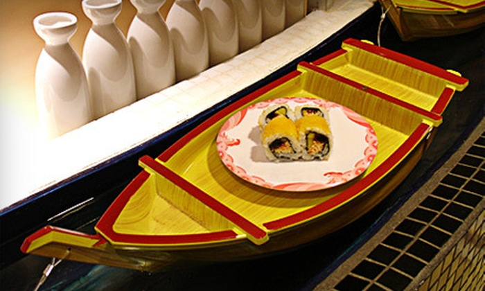 Ozzi Sushi Bar - Downtown Miami: Kaiten-Style Sushi and Drinks for Two, Four, or Six at Ozzi Sushi Bar (Half Off)
