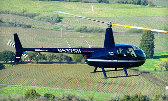 Sonoma Helicopter and Mazzocco Winery - Multiple Locations: $260 for a Wine-Country Helicopter Outing for Two from Sonoma Helicopter ($570 Value)