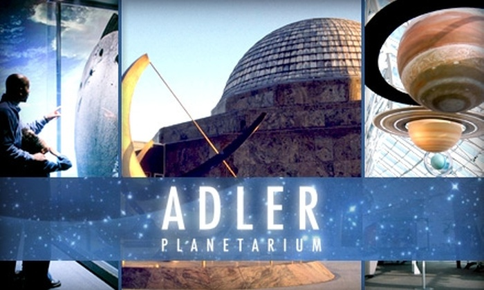 The Adler Planetarium - Central Chicago: $40 for a One-Year Family Membership to the Adler Planetarium ($95 Value). Buy Here for the Family Membership. Click Below for an Individual Membership.